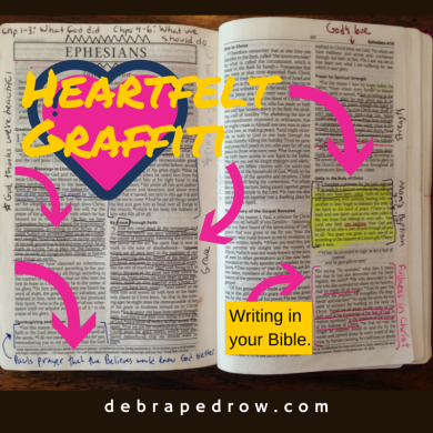 Writing in your Bible.