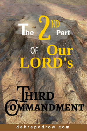 The send part of our LORD's third commandment