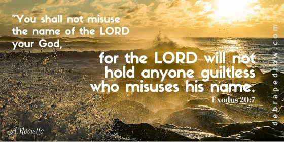 %22You shall not misuse the name of the LORD your God, for the LORD will not hold anyone guiltless who misuses his name. Exodus 20_7-2