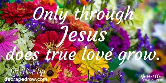 Only through Jesus does true love grow.