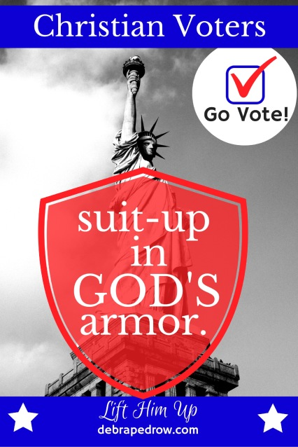 Christian voters suit-up in God's armor.