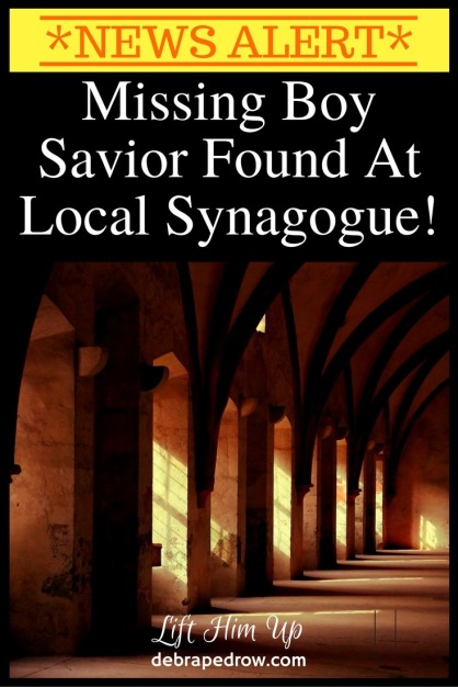 Missing boy savior found at local synagogue!
